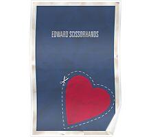 Edward Scissorhands minimalist poster Poster