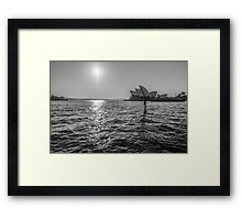 The House and the Ferry Framed Print