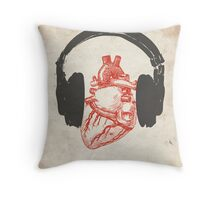 Listen to Your Heart Throw Pillow