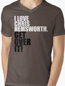 I love Chris Hemsworth. Get over it! Mens V-Neck T-Shirt