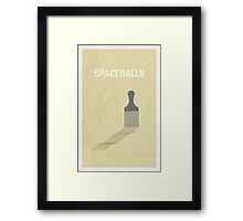 Spaceballs minimalist poster Framed Print