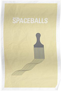 Spaceballs minimalist poster by Hunter Langston