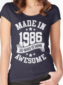 Made in 1986 , 30 Years of Being Awesome ! T Shirt , Hoodies & More ( 2016 Birthday ) Women's Fitted Scoop T-Shirt