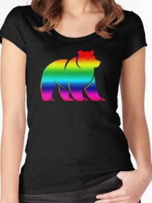 RAINBOW BEAR Women's Fitted Scoop T-Shirt