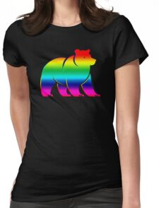 RAINBOW BEAR Womens Fitted T-Shirt