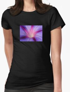 Lilac and Fuschia Morning Glory in Macro T-Shirt