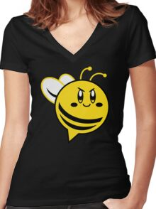KIRBEE! Women's Fitted V-Neck T-Shirt