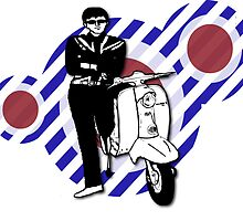 Retro sixties style scooter boy by Auslandesign