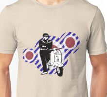retro scooter boy with Vintage Scooter Unisex T-Shirt