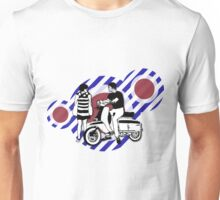 Retro style sixties scooter boy and girl Unisex T-Shirt
