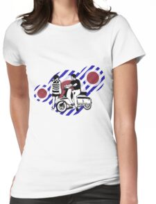 Retro style sixties scooter boy and girl Womens Fitted T-Shirt