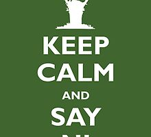 Keep Calm and Say Ni by [g-ee-k] .com