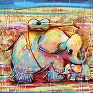 musical rainbow elephants by © Karin (Cassidy) Taylor