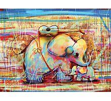 musical rainbow elephants Photographic Print
