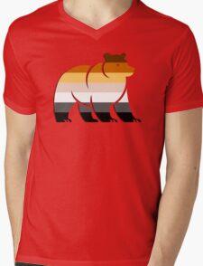BEAR FLAG BEAR Mens V-Neck T-Shirt
