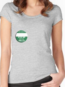 """The Inbetweeners - """"Nice Badge"""" make your own Women's Fitted Scoop T-Shirt"""