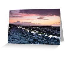 Kilve Sunset Greeting Card