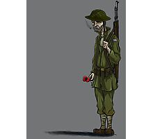 WW2 soldier Photographic Print