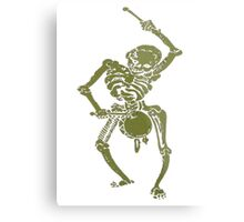 A Zombie Undead Skeleton Marching and Beating A Drum Metal Print
