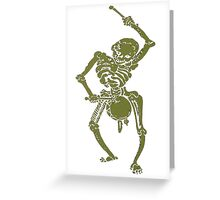 A Zombie Undead Skeleton Marching and Beating A Drum Greeting Card