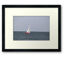 Sailboat on Lake Eire Framed Print