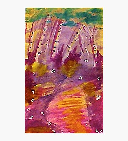 The path,,,,watercolor Photographic Print