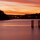 Bundeena Wharf. by David Kennedy