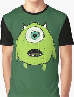 Mike Wazowski Paint Graphic T-Shirt