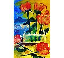 Roses to arrange, watercolor Photographic Print