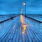 Stormy Shorncliffe Pier in HDR by kmatm