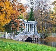Marble Bridge in the park Tsarskoye Selo, Russia  by torishaa