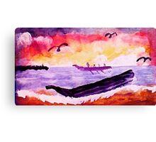 Coming ashore, #2, watercolor Canvas Print