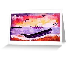 Coming ashore, #2, watercolor Greeting Card