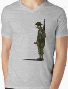 Lone soldier Mens V-Neck T-Shirt