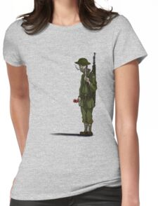 Lone soldier Womens Fitted T-Shirt