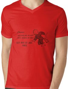 Get Out of Jail Free Mens V-Neck T-Shirt