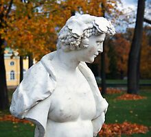 Statue in the park Tsarskoye Selo, Russia by torishaa