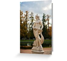 Statue in the park Greeting Card