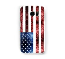 USA flag red & blue sparkles Samsung Galaxy Case/Skin