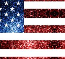 USA flag red & blue sparkles Sticker