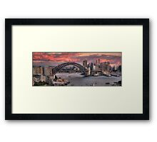 Diva Takes A Bow - Sydney Harbour Dawn - The HDR Experience Framed Print
