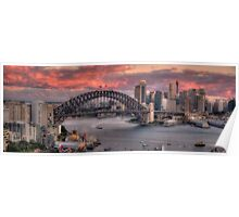 Diva Takes A Bow - Sydney Harbour Dawn - The HDR Experience Poster