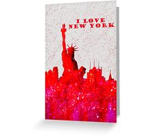 I LOVE NEW YORK - Color Red Greeting Card