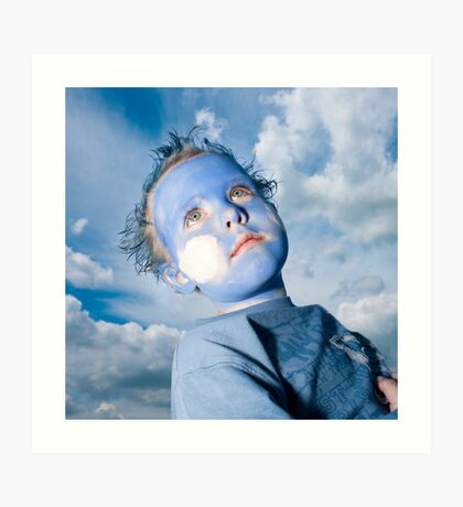 Blue Boy and Sky Art Print