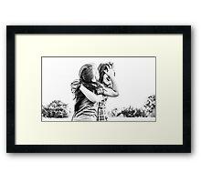 4655. Hug me sister Framed Print