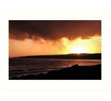 Great ocean sunset Art Print
