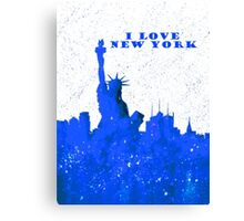 I LOVE NEW YORK - Color Blue Canvas Print