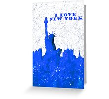 I LOVE NEW YORK - Color Blue Greeting Card