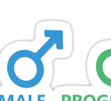 Female, Male, Programmer Sticker