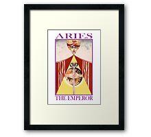 Astrology - Tarot. Aries - The Emperor Framed Print